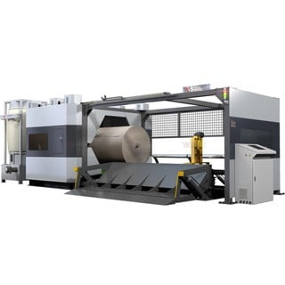 Industrial Paper Roll Cutting Machine With Saw Blade