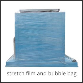 stretch film and bubble bag